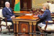 Лукашенко обсудил со Щеткиной вопросы совершенствования соцподдержки населения