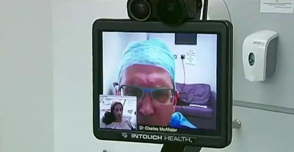 Робот-доктор ведет прием больных в Северной Ирландии
