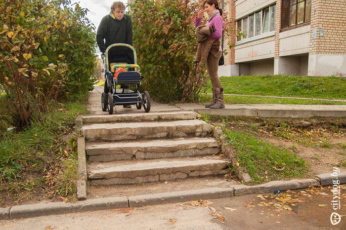 Эксперимент: с детской коляской по Минску