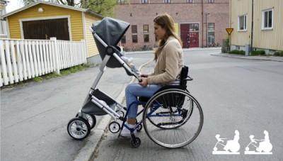 Детская коляска для родителей с ограниченными возможностями