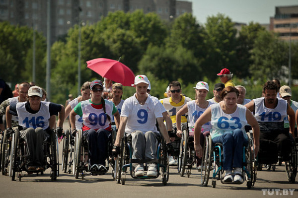 A sports celebration for wheelchair users took place in Minsk