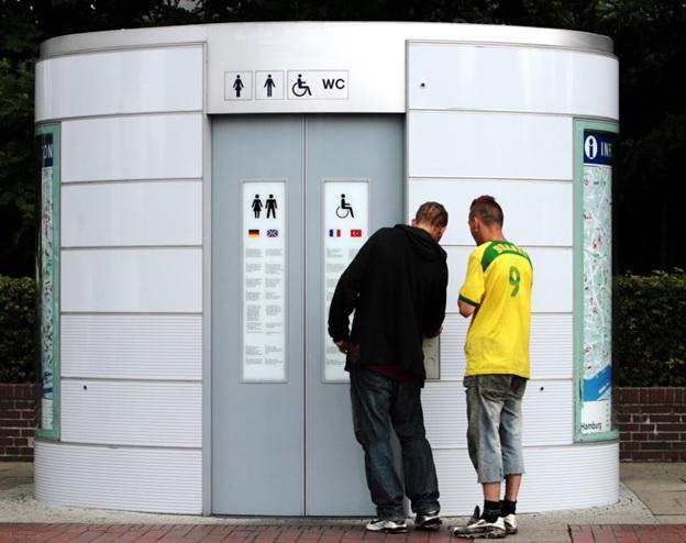 Евроключ для общественных туалетов для инвалидов.