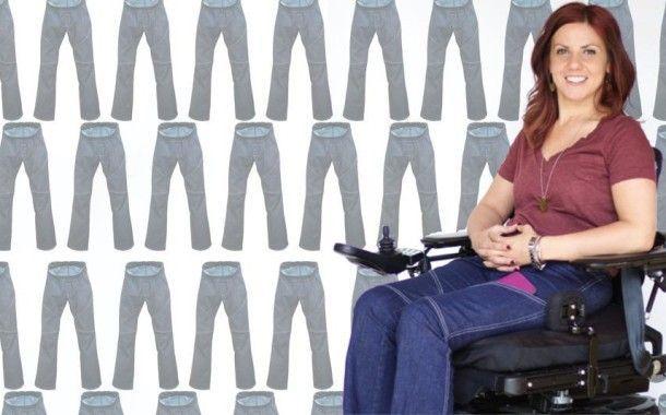 Американка разработала дизайн удобных функциональных джинсов для инвалидов - колясочников