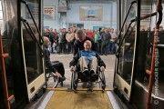 Инвалиды-спинальники провели встречу с водителями троллейбусов