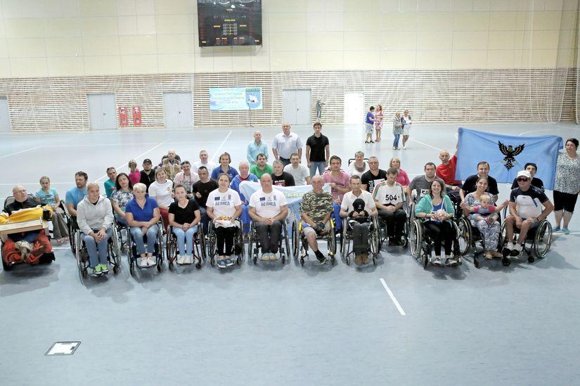 В Жлобине состоялась первая открытая спартакиада инвалидов-колясочников