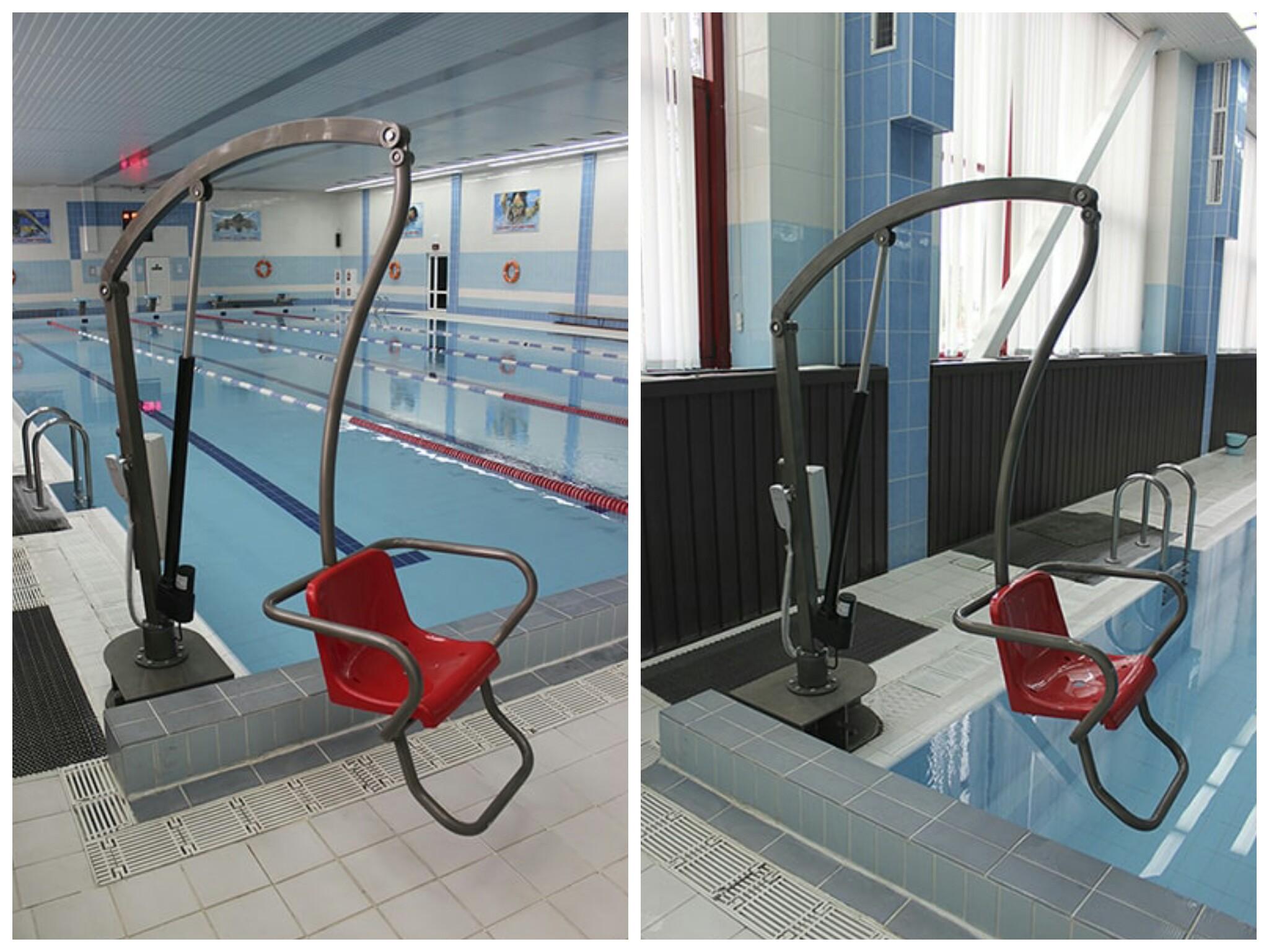 «Могилевлифтмаш» представил подъемник в бассейн для людей с инвалидностью